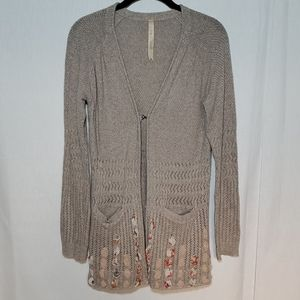 Hem & Thread Open Front Knit Cardigan With Pockets
